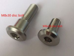 Titanium Steel Disc Bolts for Triumph [L=30mm] Priced Individually. OEM# T2020609 OEM#T2023233